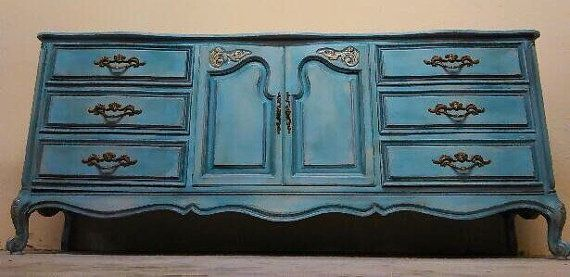 Bath Vanity Dresser French Provincial Country French Vintage Shabby Chic Beach Cottage Buffet Server Changing Table TV Console Farmhouse