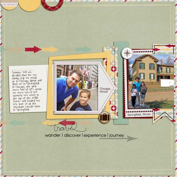 Kit: Pixel Gypsy's The Travel Story   Template: Studio Basic: Pixel Gypsy S, Layout Inspiration, Story Template, Gypsy Layout