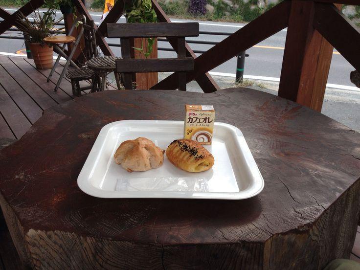 くるみパンとさつま芋クリームデニッシュ