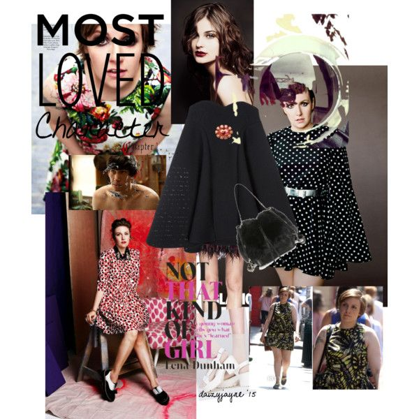 lena dunham style inspiration by daizyjayne on Polyvore featuring Alice McCall, Alice + Olivia, Alice Joseph Vintage, ASOS, McQ by Alexander McQueen and tvstylestar