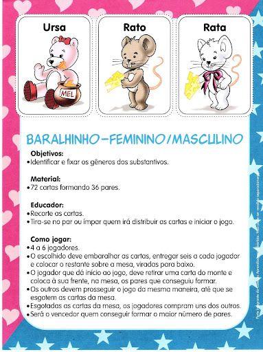 Cartas: atividade para trabalhar o gênero  do substantivo de forma lúdica!