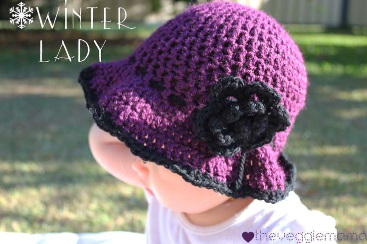 Free Crochet Hats for Newborns | Free crochet pattern – Winter Lady baby girl hat