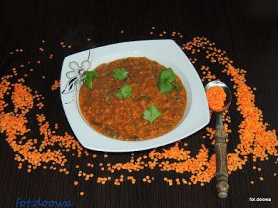 Moje Małe Czarowanie: Zupa z czerwonej soczewicy ze szpinakiem
