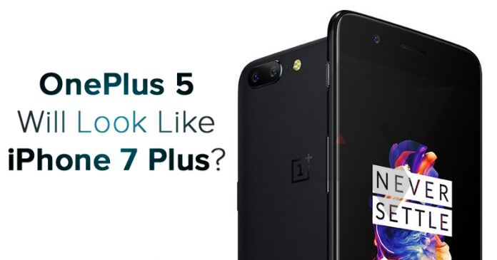 OnePlus 5 Looks Like An Exact Copy Of The iPhone 7 Plus  OnePlus fans are yet to see flagship smartphone of this year. Some alleged renders of the smartphone have surfaced online. The render hints that OnePlus 5 will carry a design similar to Apple's iPhone 7 Plus which was launched previous...