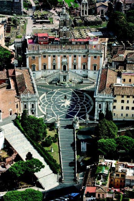 Roma. Il Campidoglio e la scalinata di S. Maria in Aracoeli