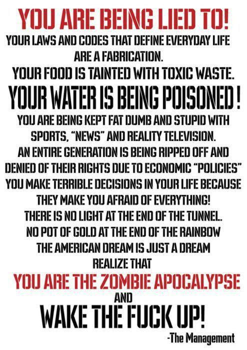 Agenda 21, New world order, Gmo's, Fema camps, N.D.A.A, Chemtrails and H.A.A.R.P, Fluoridated water, Monsanto Protection act, Bilderburg group, please Research for yourself!!! And Tell others what you learn!!!