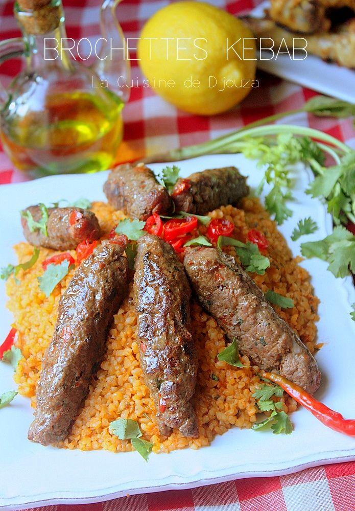 Idee Repas Barbecue.Brochette Kebab De Viande Hachee Au Barbecue