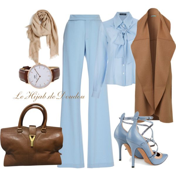 Hijab Outfit by le-hijab-de-doudou on Polyvore featuring Dolce&Gabbana, Thakoon, Valentino, Yves Saint Laurent and Nordstrom