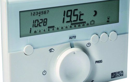 Delta Dore 6050416 Deltia 8.00 Thermostat d'ambiance programmable électronique filaire: Mode chaud de 5 à 30° C, et mode froid de 18 à 35°…