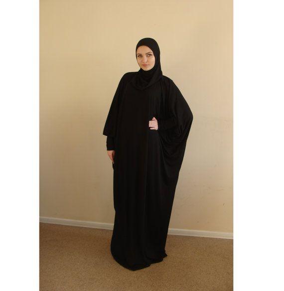 Black Prayer dress, Farasha Caftan, Khimar dress, Muslim dress, Plus Size dress,abaya Maxi Dress,Modern hijab, Burqa, Namaz salat dress