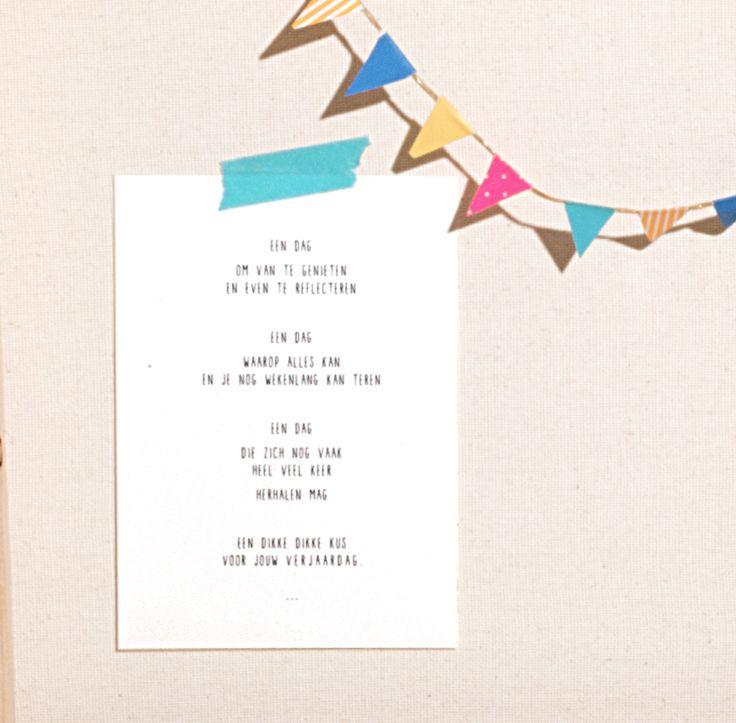 Citaten Voor Een Verjaardag : Kaartje voor een verjaardag of feestje tekstje