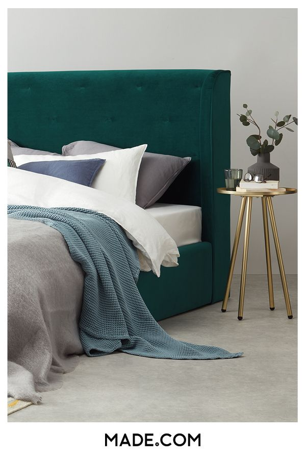 3e1bc9e3a10f Invest in your very own grand design with the Ormond bed. A tall, quilted  headboard creates an imposing silhouette, while chamfered corners give it  boutique ...