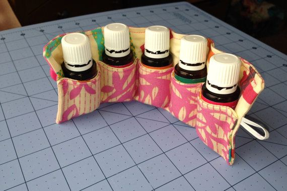 Essential Oil Carrying Case, Travel Pouch, Holds up to 5 (15ml) Bottles on Etsy, $17.00