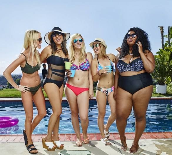 It's about time big companies begin to respect women of all shapes and sizes. Thank you Target for featuring 5 real women to model your swimsuits. Sharing pics for young girls of other women accentuating their best assets and feeling good about themselves is so important. Check out more photos here http://www.whowhatwear.com/target-real-women-new-swim-camp…/
