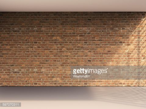3d Rendering Of Interior Brick Wall And Grey Floor Stock Illustration | Getty Images