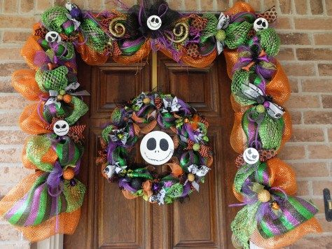 Mesh Garland-A Rundown From My First Attempt. Make your own Nightmare Before Christmas garland with this easy tutorial.