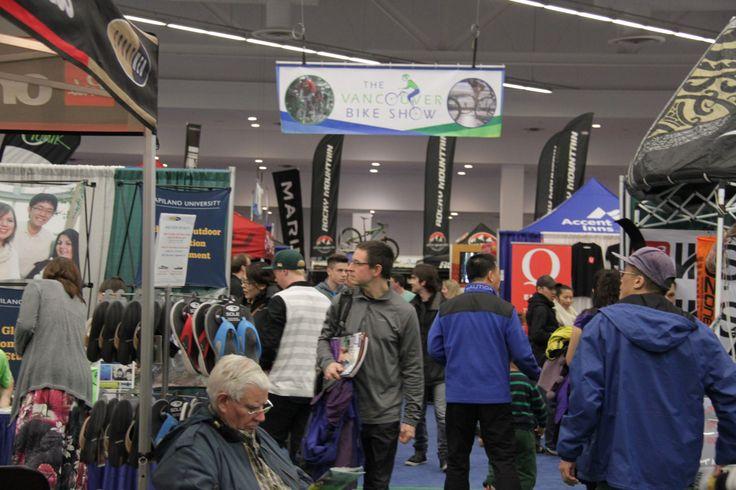 a busy day @Vancouver Bike Show #biking #cycling gear