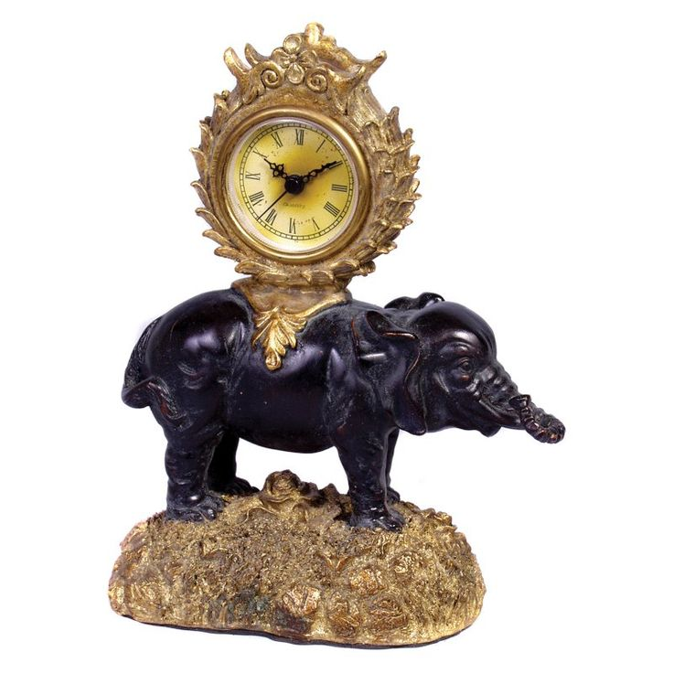 AA Importing Elephant Desktop Clock - 6202