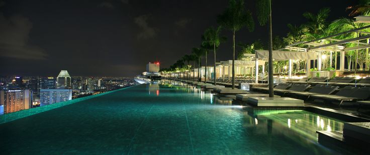 Quot Marina Bay Sands Rooftop Pool Quot Jutting Out From The
