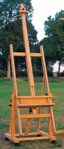 New Beech Wood Artist H Frame Studio Easel Convertible