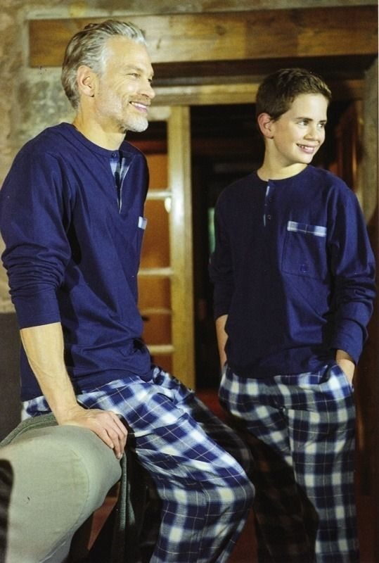 Pijama Guasch de invierno - PZ421D518 - Esquijama combinado en punto de algodón para usar todo el año. Disponible en tallas extra grandes. #hombre #modahombre #ropainterior http://www.varelaintimo.com/marca/9/guash