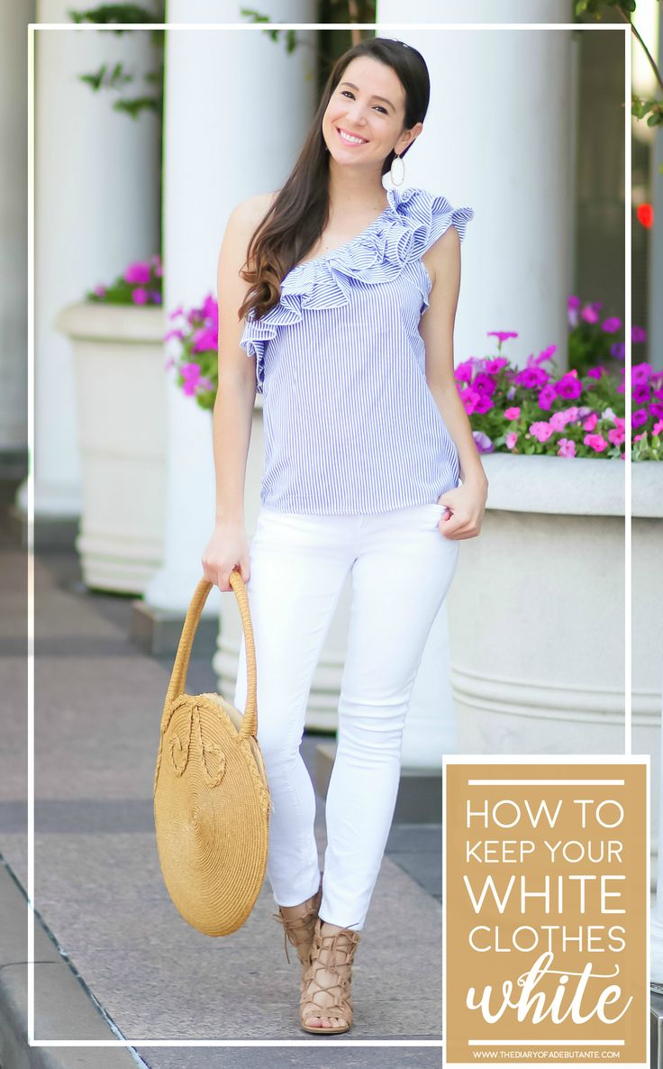 How to keep your white clothes whiter longer with Clorox Bleach by fashion blogger Stephanie Ziajka from Diary of a Debutante