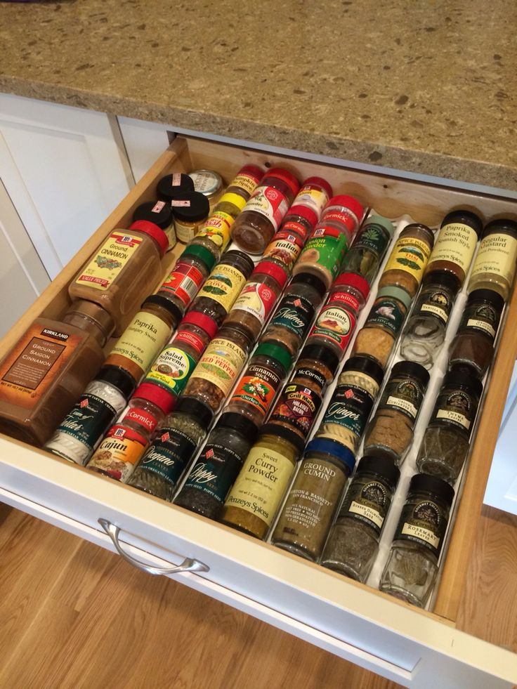 IKEA VARIERA drawer insert for spice jars Keeps the