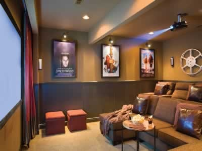 Media Room At The Cliffs At Long Creek Near Branson Mo We Love It Dream Home Pinterest