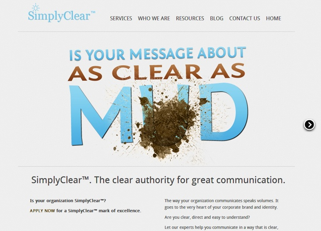 Simply Clear website designed by Fusion Studios Inc.