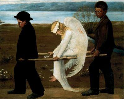 El ángel herido. Hugo Simberg.