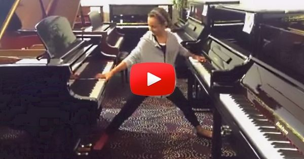 AWESOME!  Twelve-Year-Old Emily Bear Is a Kid in a Candy Store…Well, Piano Store. And It's Awesome! | FaithHub