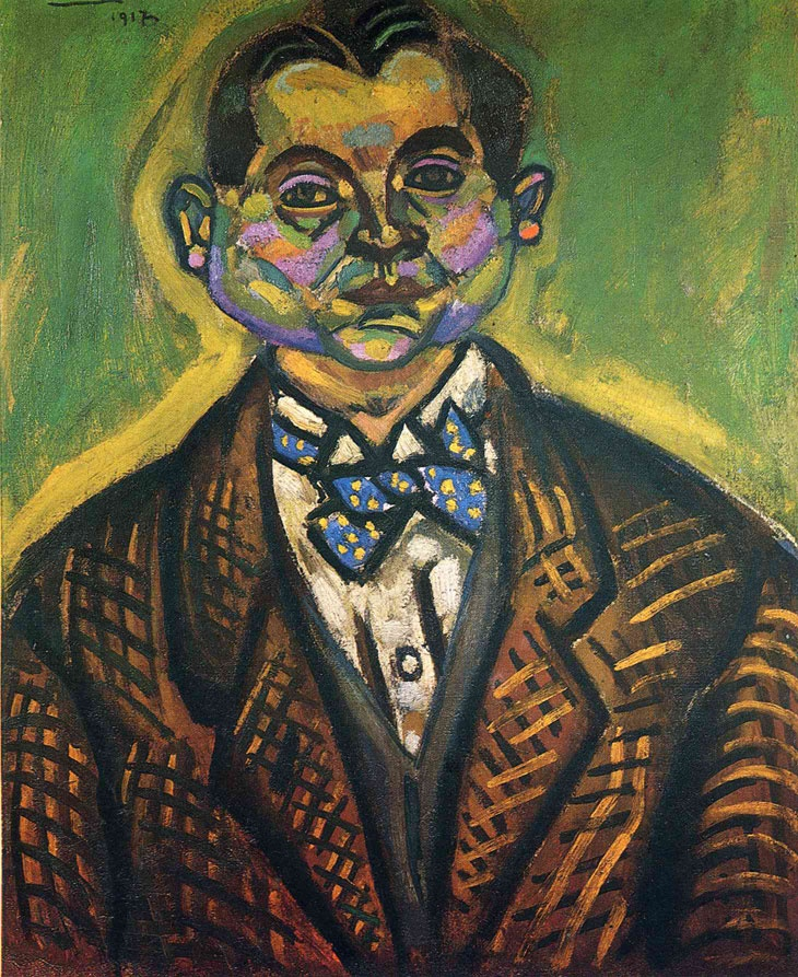 Joan Miró    Otoportre / Self-Portrait    1917. Tuval üzerine yağlıboya.61 x 50 cm. Private Collection.