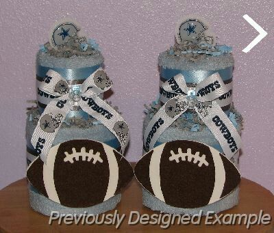 Table Centerpieces   Shower Favors/Dallas Cowboys Baby Shower Decorations  Is My Unique Creation That Is A Perfect Shower Gift Idea Or Centerpiece!