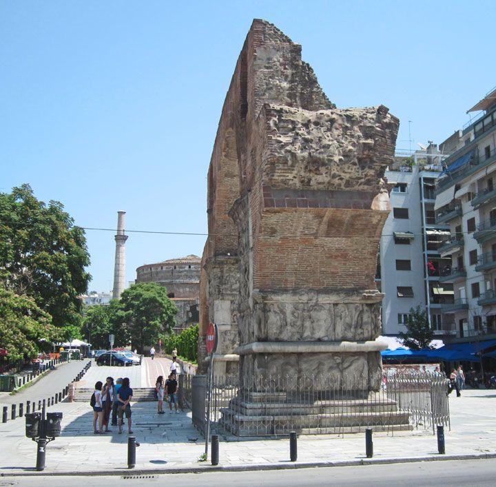 Triumphal Arch of Galerius Thessaloniki, Macedonia, Greece - Travel Photos by Galen R Frysinger, Sheboygan, Wisconsin