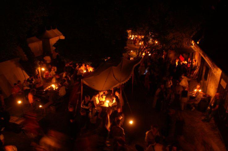 Kapitelhusgården, a night during the medieval week (always week 32 in Visby-Gotland-Sweden)
