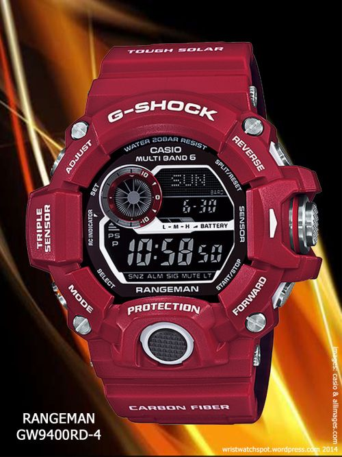 rangeman red watch g-shock Gulfman GW9110RD-4, Rangeman GW9400RD-4,