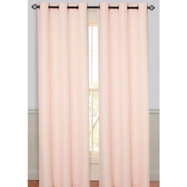Dainty Home Peach Moderna 78X84 Panel Pr Peach ($35) ❤ liked on Polyvore featuring home, home decor, window treatments, curtains, peach, peach curtains, grommet window treatments, fabric drapery, grommet curtains and textured curtains