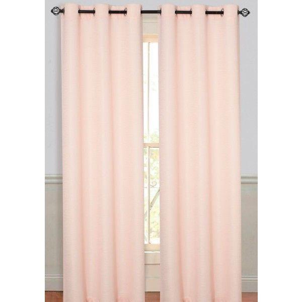 Dainty Home Peach Moderna 78X84 Panel Pr Peach ($35) ❤ liked on Polyvore featuring home, home decor, window treatments, curtains, peach, peach curtains, grommet window treatments, fabric drapery, grommet curtains and textured curtains