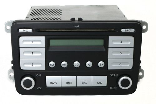 2006-2009 Volkswagen Jetta AM FM Radio mp3 Single Disc CD Player Part 1K0035161C