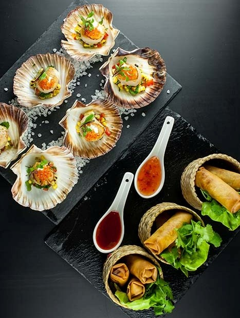Catering canapes bespoke exquisite catering for Canape menu ideas