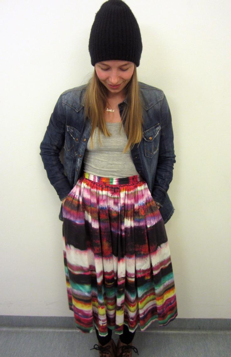 Dress; Marimekko, Shirt; Wrangler, Hat and top; H