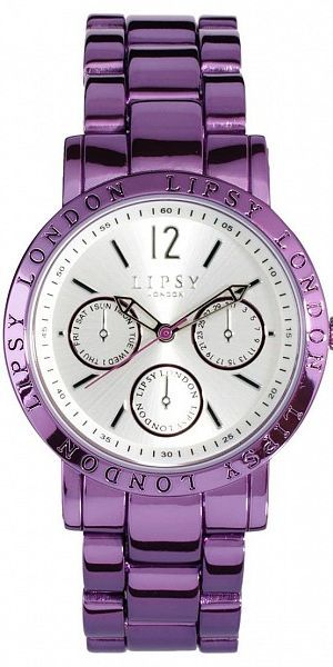 LIPSY PURPLE ALLOY WATCH