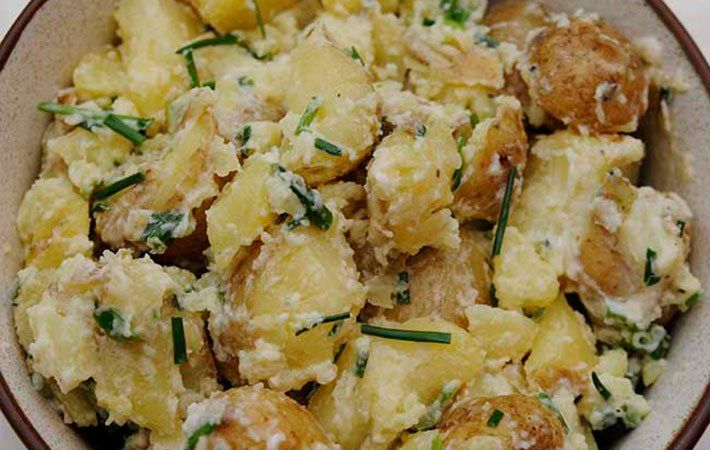 The humble spud salad is always the most popular at any barbeque. Don't fight it, just go simple and see them smile.