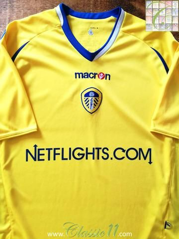 Official Macron Leeds United 3rd football shirt from the 2008/2009 season.