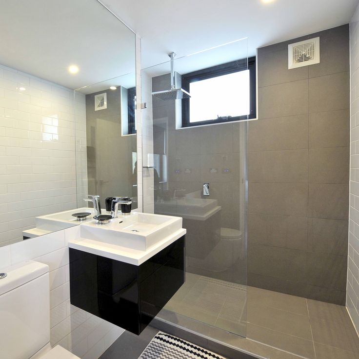 Dark Grey Wall With White Tile As Accent Wall: 116 Best Bathroom Tile Ideas Images On Pinterest