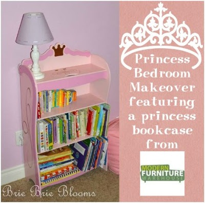 Princess Bedroom Makeover: Princess Bookcase from Modern Furniture Warehouse