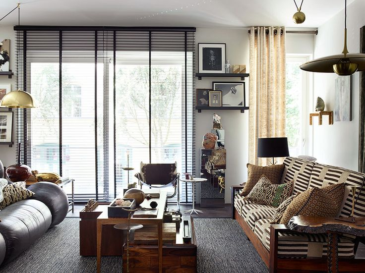 Living space in an eclectic Berlin apartment