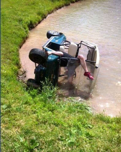 Serious #GolfCartFail! | Rock Bottom Golf #RockBottomGolf