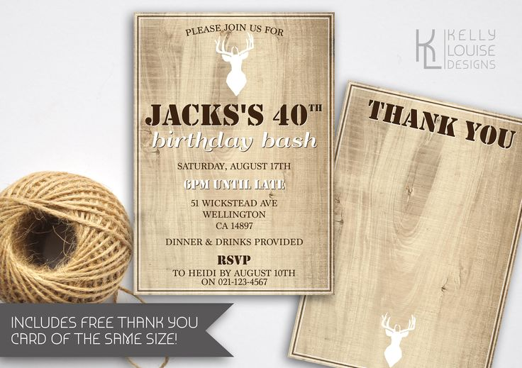 Stag Birthday Invitation | Bucks Party | Stag Do | Hunting Invitation | Printable Stag Invitation | Masculine Invitation | Deer | Stag (176) by kellylouisedesigns on Etsy
