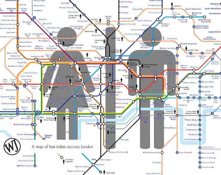 free toilets tube map
